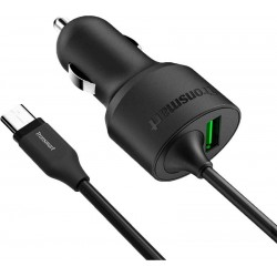 АЗУ Tronsmart CCTA Quick Charge 3.0 & Type C Car Charger Black