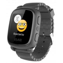 Детские умные часы ELARI KidPhone 2 Black с GPS-трекером (KP-2B)