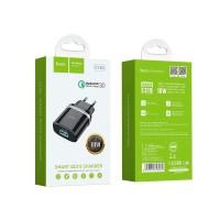 СЗУ Hoco C12Q Smart QC3.0 single USB 18W 3A White ...