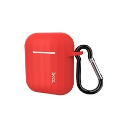Чехол Hoco WB10 AirPods Silicone Case Red