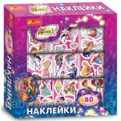 Набор детских наклеек Дисней Винкс 80шт. Ranok-creative