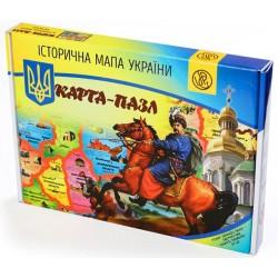 Карта-пазл Історическая карта Украины (TM Uteria)