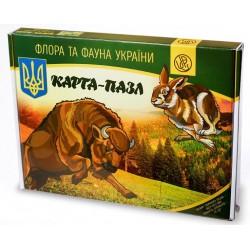 Карта-пазл Флора и Фауна Украины (TM Uteria)