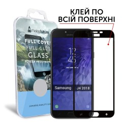 Защитное стекло MakeFuture Full Cover Full Glue Samsung J4 2018 Black