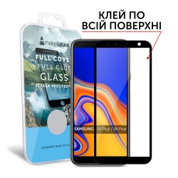 Защитное стекло MakeFuture Full Cover Full Glue Samsung J4 Plus/J6 Plus 2018 Black