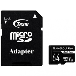 Карта памяти Team microSDXC Dash Card 64GB Class 10 UHS-I (с адаптером) (TDUSDX64GUHS03)