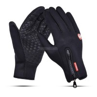 Touch Gloves Black with zip